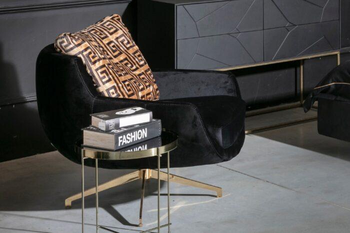 כורסא מעוצבת גולד