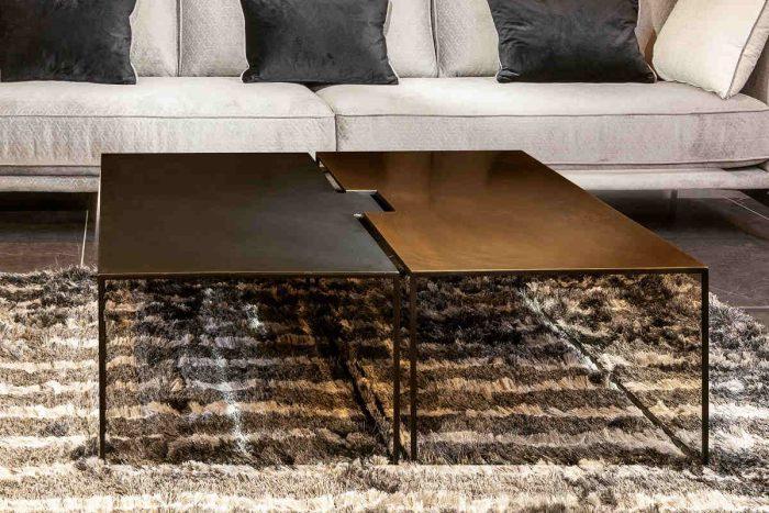 שולחן סלון פליז