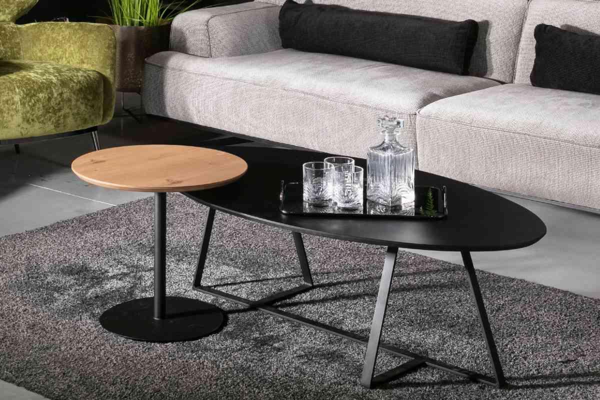 שולחן סלון אליפטי