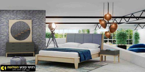 חדר שינה מעוצב שקד