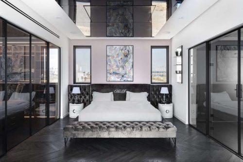 חדר שינה מעוצב ולור